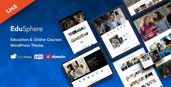 Download EduSphere – Education & Online Learning WordPress Theme Free Nulled