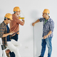 Workers measuring wall - PhotoDune Item for Sale