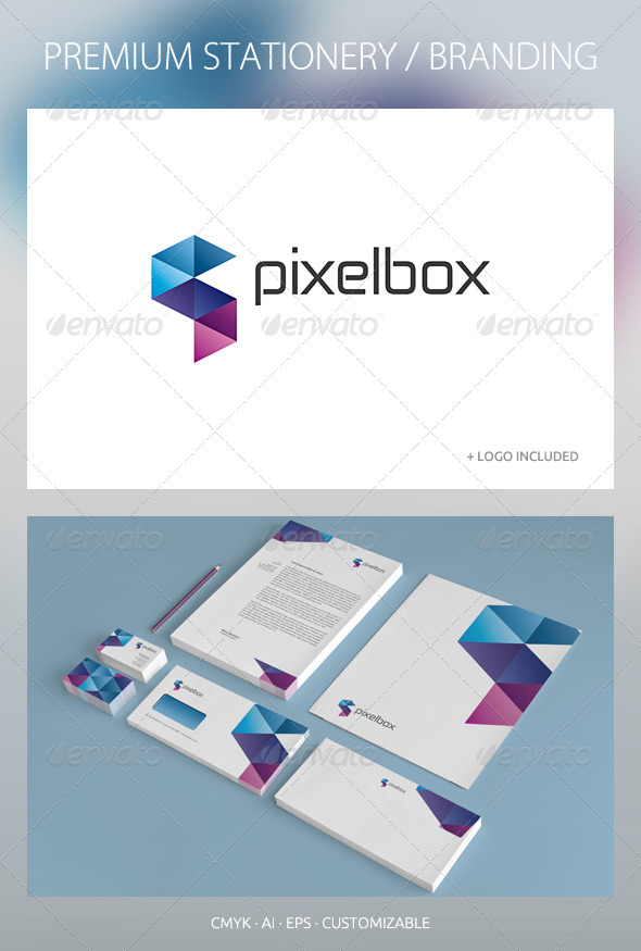 Pixelbox - Corporate Identity - Stationery Print Templates