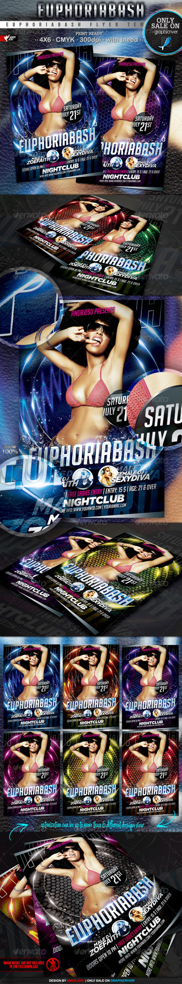 Euphoria Bash Flyer Template - Events Flyers