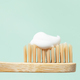 Macro View of Bamboo Toothbrush with Toothpaste. - PhotoDune Item for Sale