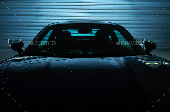 Exotic Supercar Parked in Underground Garage - Stock Photo - Images