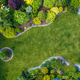 Beautiful Residential Mature Garden Aerial View - PhotoDune Item for Sale