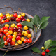 Fresh ripe red and yellow cherry - PhotoDune Item for Sale
