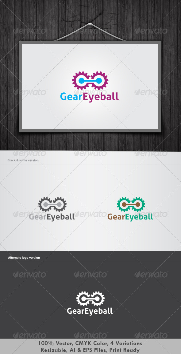 Gear Eyeball Logo - Vector Abstract