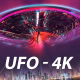 UFO Descending From Sky - VideoHive Item for Sale