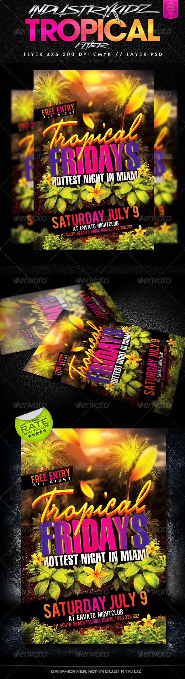 Tropical Fridays  - Events Flyers