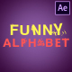 Funny Alphabet | After Effects - VideoHive Item for Sale