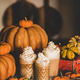 Pumpkin latte coffee decorated with whipped cream in glasses - PhotoDune Item for Sale