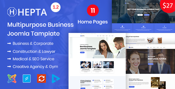 Hepta - Multipurpose Business Joomla Template