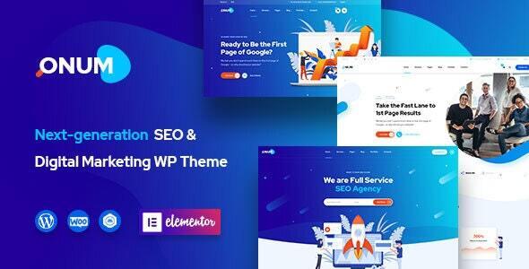 Onum - SEO & Marketing Elementor WordPress Theme