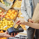 Using contactless payment at farmers market - PhotoDune Item for Sale
