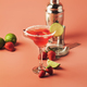 Strawberry red margarita alcoholic cocktail with tequila, liqueur, berries, lime juice - PhotoDune Item for Sale