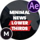Minimal News Lower Thirds Pack - VideoHive Item for Sale