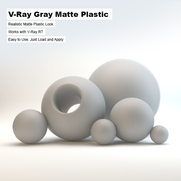 V-Ray Gray Matte Plastic - 3DOcean Item for Sale