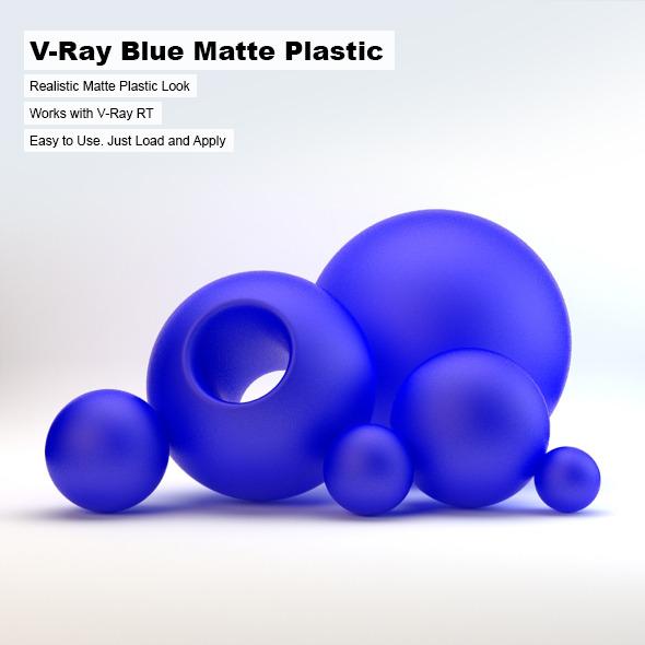 V-Ray Blue Matte Plastic