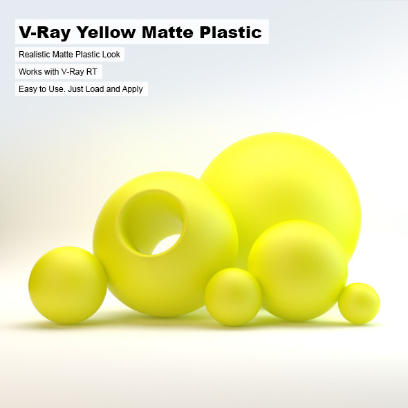 V-Ray Yellow Matte Plastic - 3DOcean Item for Sale