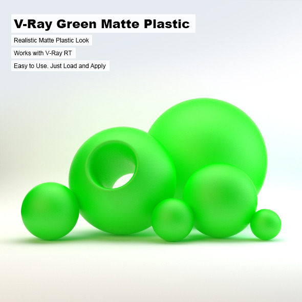 V-Ray Green Matte Plastic - 3DOcean Item for Sale