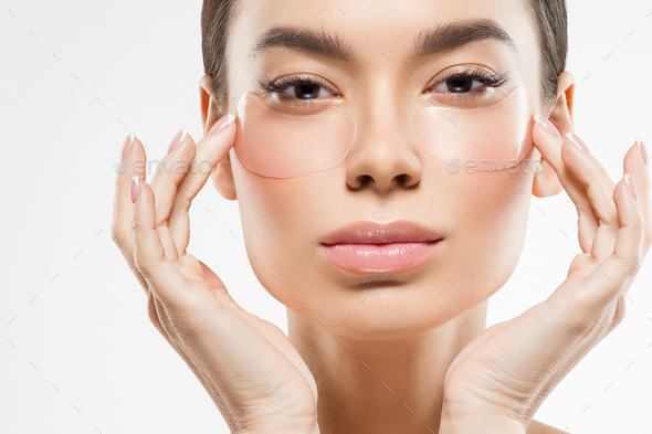 Eyes cosmetic mask woman face beauty putches - Stock Photo - Images