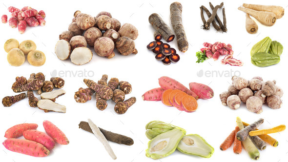group of ancient vegetables - Stock Photo - Images
