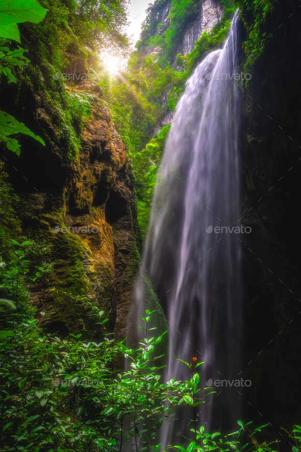 Waterfall in Wulong National Park - Stock Photo - Images