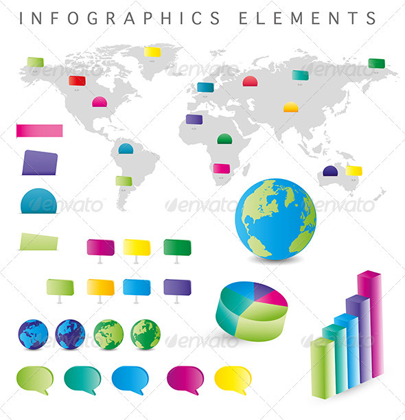 Infographics Elements - Web Elements Vectors