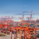 shanghai container port in sunset - PhotoDune Item for Sale