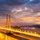 bridge spanning the sea in nightfall - PhotoDune Item for Sale
