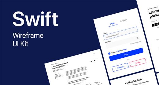 Swift - Powerful Wireframe UI Kit