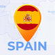 Spain Map - Kingdom of Spain Travel Map - VideoHive Item for Sale