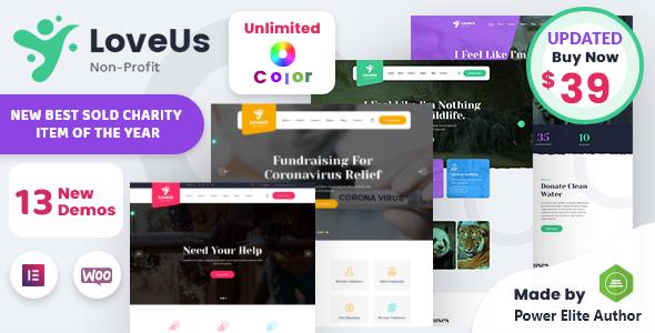 Loveus - NonProfit Charity WordPress Theme