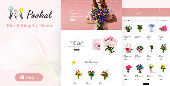 Pookal - Flower Shop and Florist  Shopify Theme
