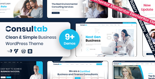 Consultab - Consulting Business & Finance WordPress Theme