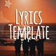 Lyrics Template - VideoHive Item for Sale