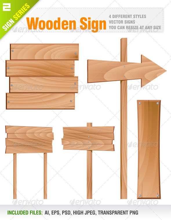 Wooden Sign  - Objects Vectors