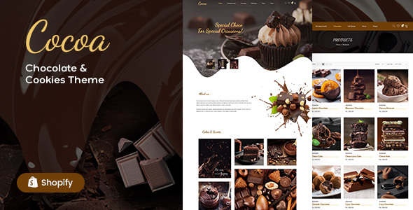 Cocoa – Chocolates Store Shopify Theme