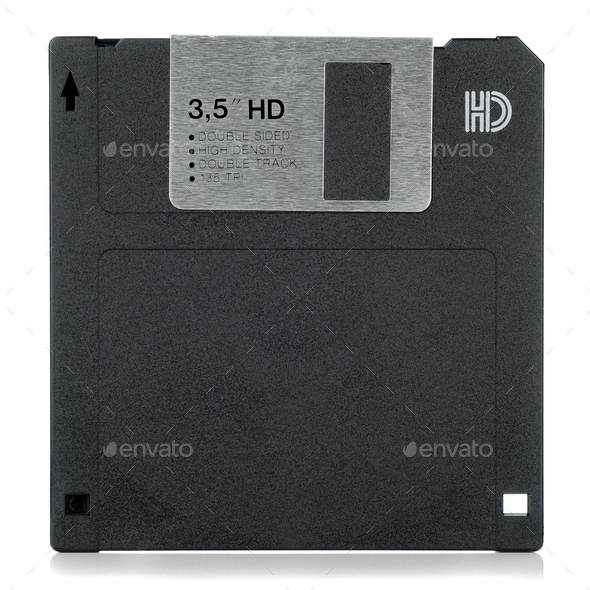 A Computer Floppy Disc - Stock Photo - Images