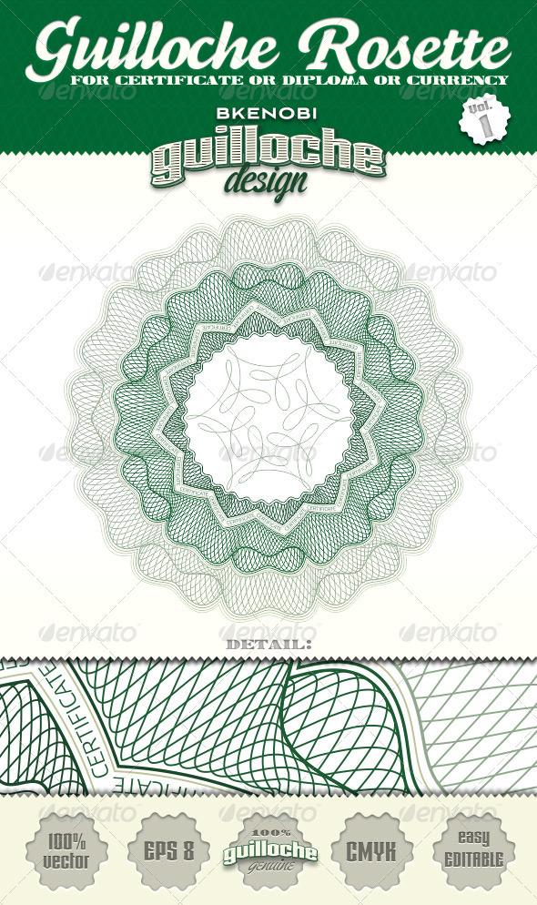Guilloche Rosette Vol.1 - Decorative Symbols Decorative