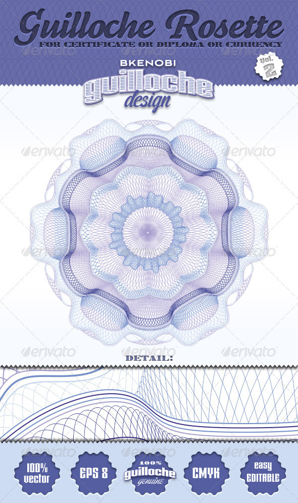 Guilloche Rosette Vol.2 - Decorative Symbols Decorative