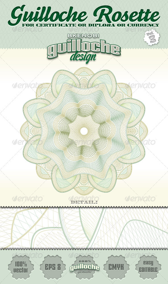 Guilloche Rosette Vol.3 - Decorative Symbols Decorative