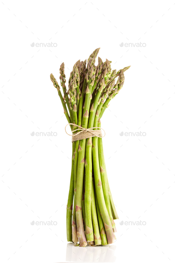 Fresh asparagus officinalis isolated - Stock Photo - Images