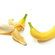 Peeled banana and banana isolated on white background - PhotoDune Item for Sale
