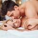 Happy couple in bedroom - PhotoDune Item for Sale