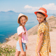 Two kids on vacation on the cliff - PhotoDune Item for Sale