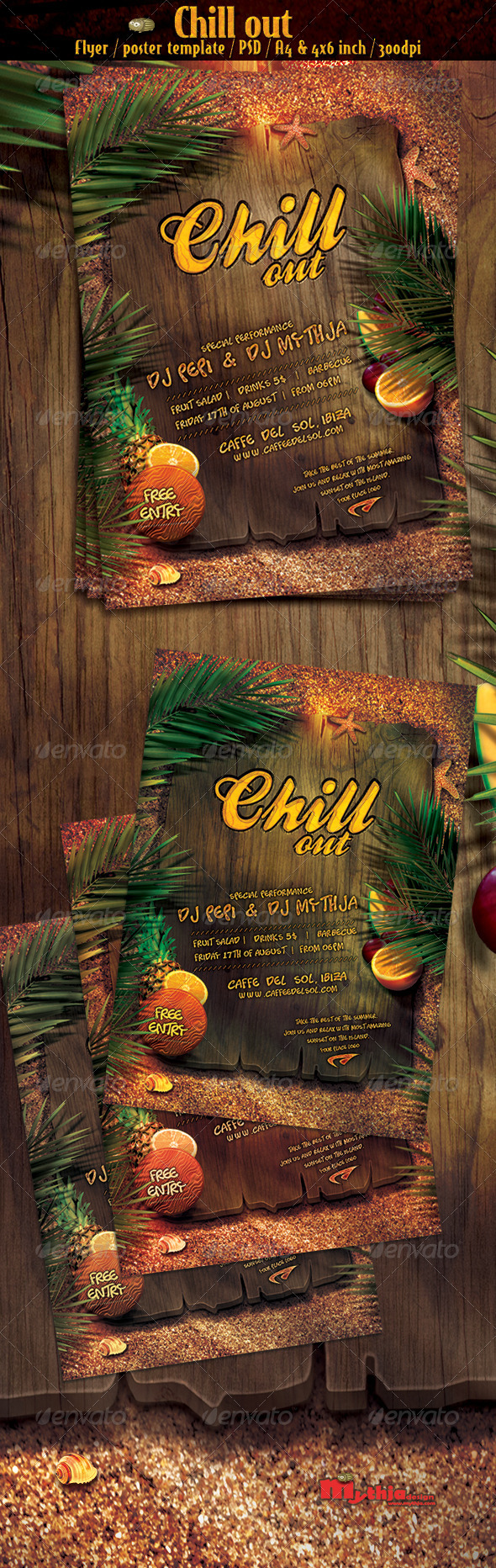 Chill out vol.1 - party flyer/poster template - Clubs & Parties Events