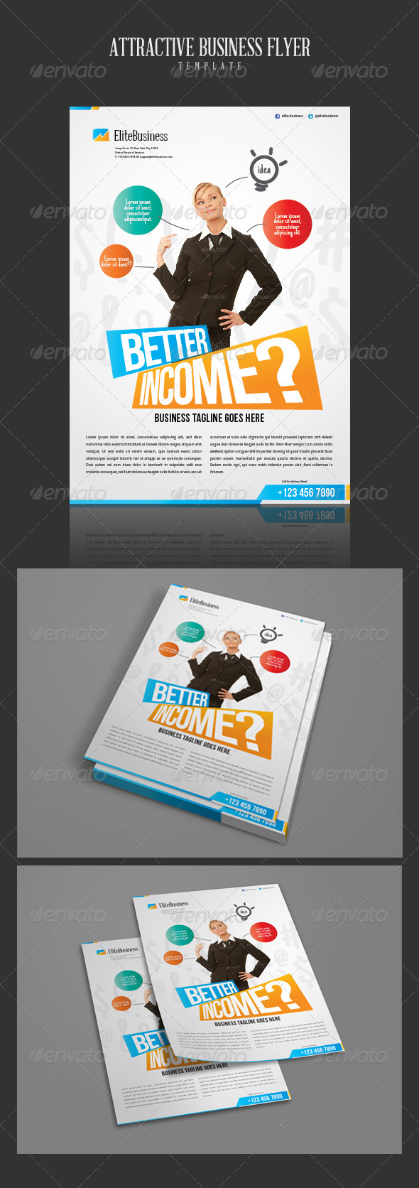 Attractive Business Flyer Template - Corporate Flyers