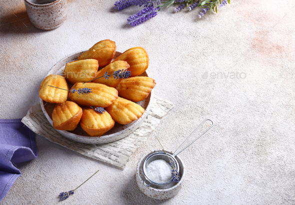 Madeleine Biscuits - Stock Photo - Images