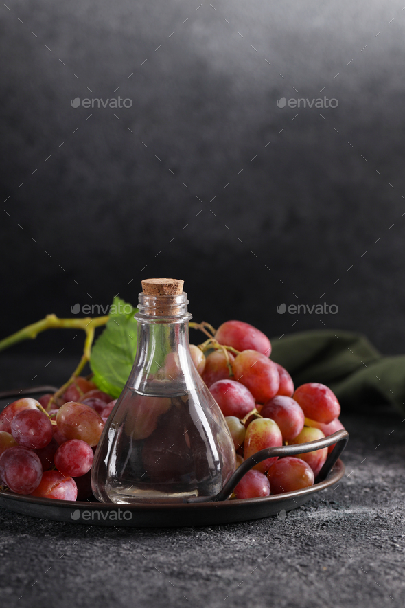 Bottle Grape Seed Oil - Stock Photo - Images