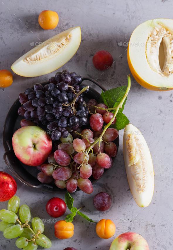 Autumn Harvest Fruit - Stock Photo - Images