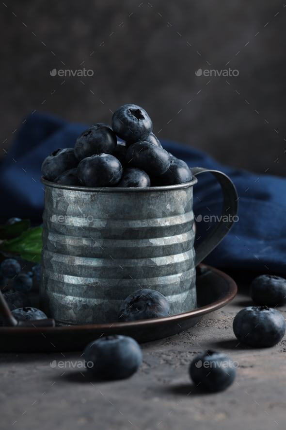 Organic Blueberries - Stock Photo - Images